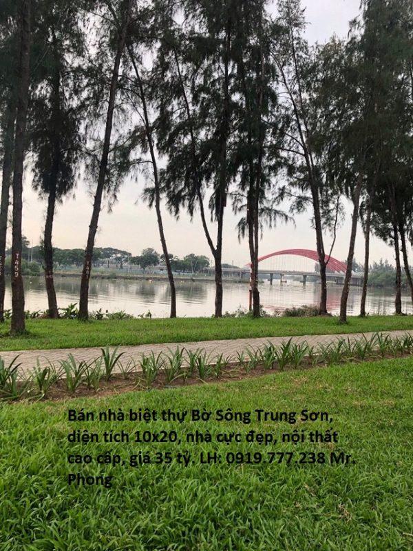 nhà biệt thự bờ sông Trung Sơn - view cầu Ông Lớn